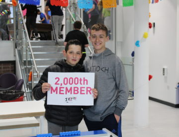 Inspire Youth Zone 2000th member