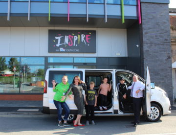 Inspire Youth Zone Minibus donated by Chorley Group