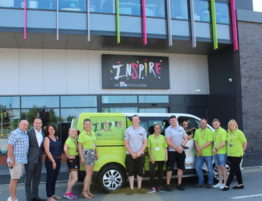 Inspire Youth Zone Minibus vinyl wrap revealed