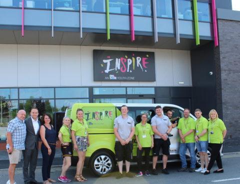 Inspire Youth Zone Minibus vinyl wrap revealed